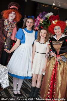 Mad Hatter, Alice, Tori Kiser and the Queen of Hearts